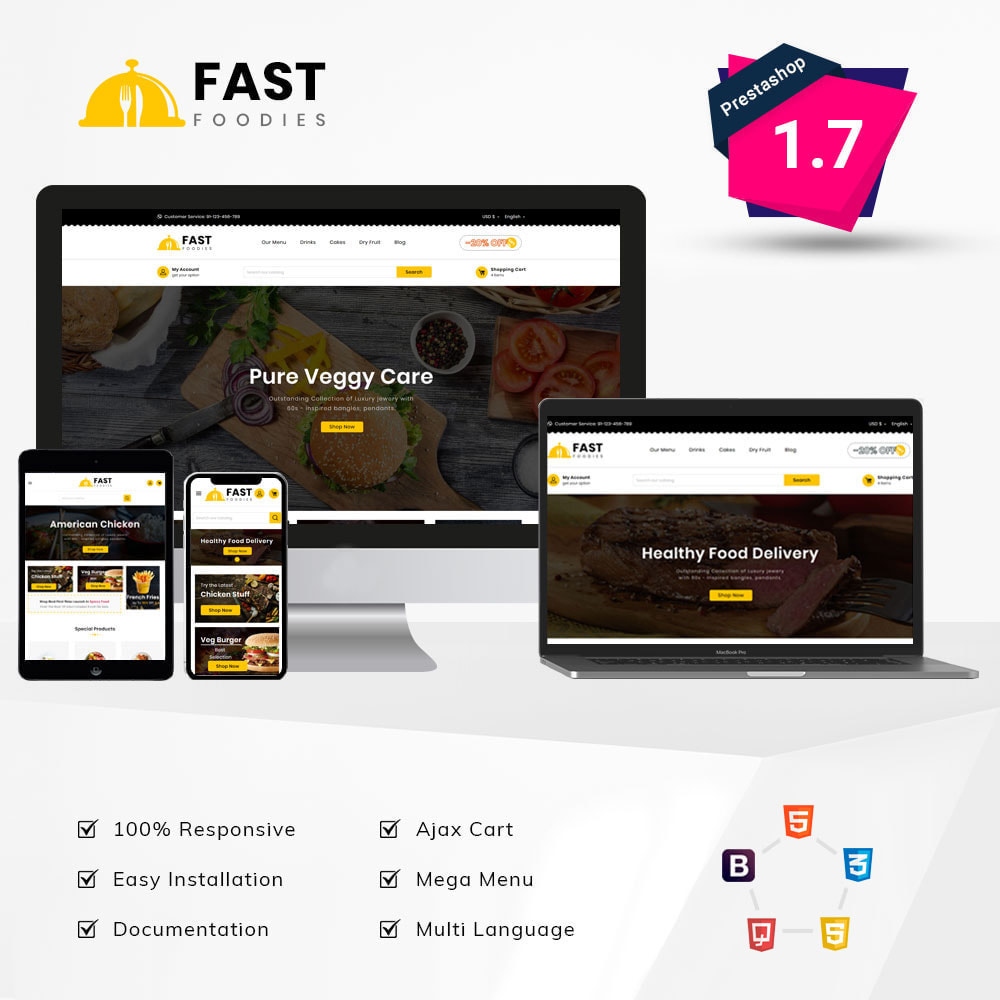 theme - Eten & Restaurant - Fast Foodies Shop - 1