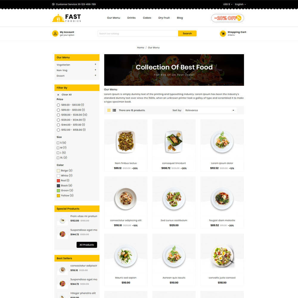 theme - Eten & Restaurant - Fast Foodies Shop - 3