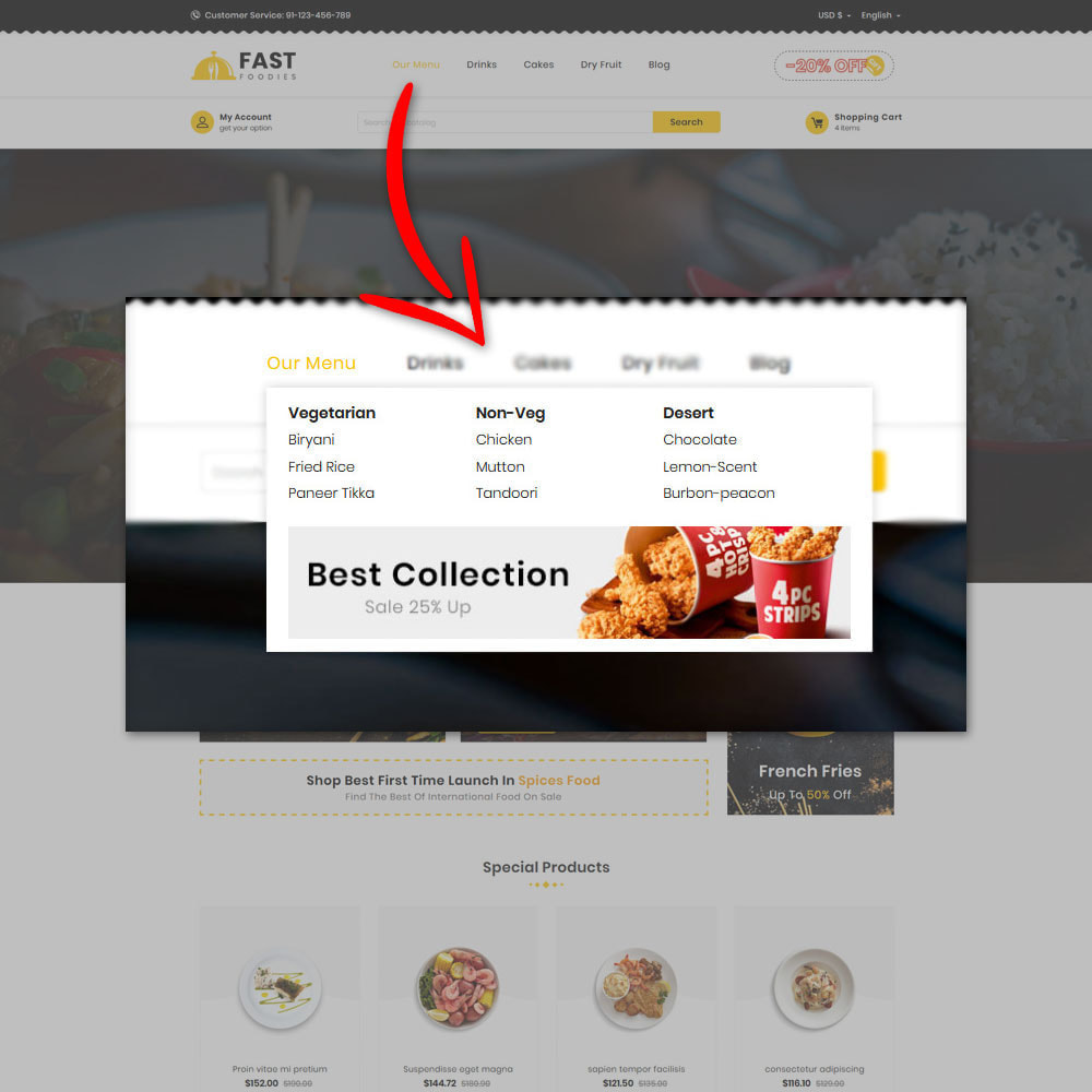 theme - Eten & Restaurant - Fast Foodies Shop - 8