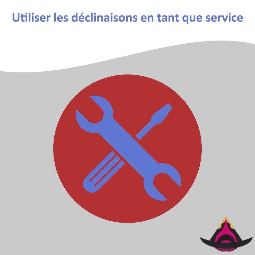 module - Déclinaisons & Personnalisation de produits - Utiliser les déclinaisons en tant que service - 1