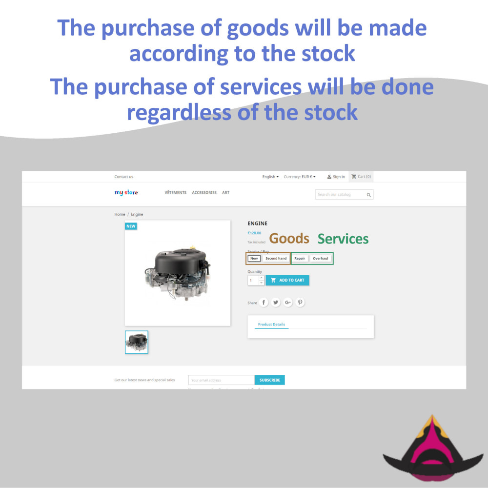 module - Combinations & Product Customization - Use combinations as service (unlimited quantity) - 5