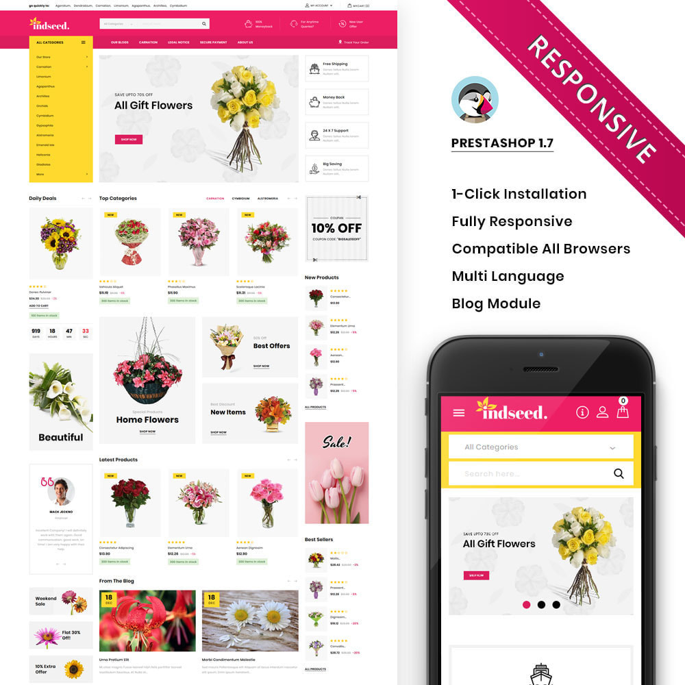 theme - Gifts, Flowers & Celebrations - Indseed - The Online Bouquet Shop - 1