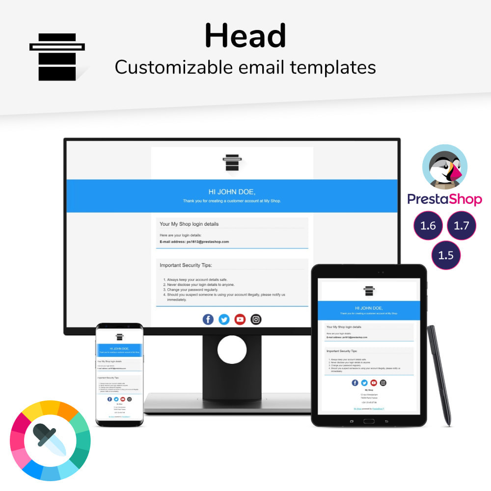 email - Email templates PrestaShop - Head - Email templates - 1