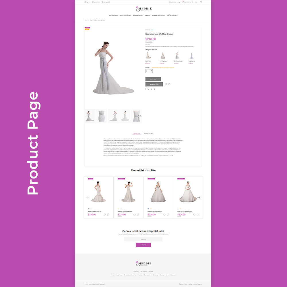 theme - Moda & Calzature - Meddie - Wedding Shop - 7