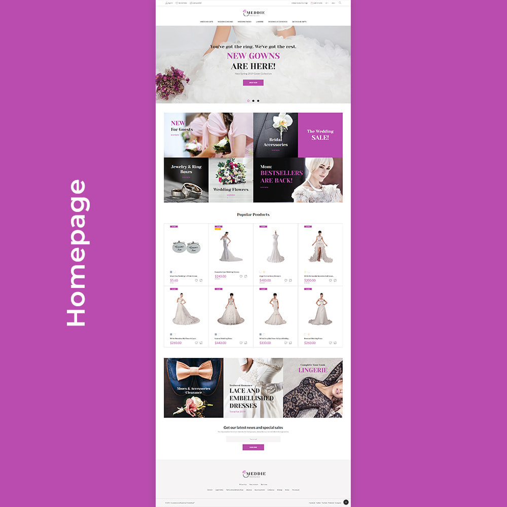 theme - Mode & Chaussures - Meddie - Wedding Shop - 5