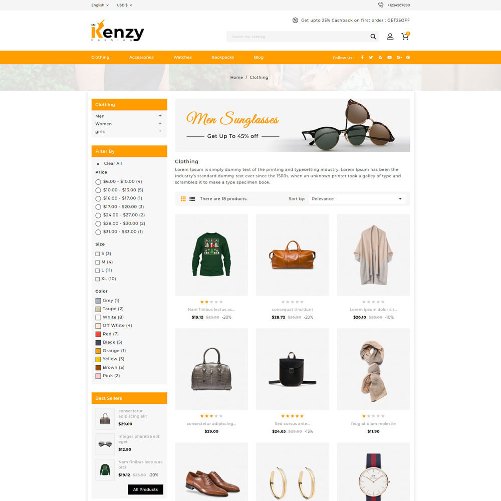 theme - Fashion & Shoes - Kenzy Fashion Shop - 3