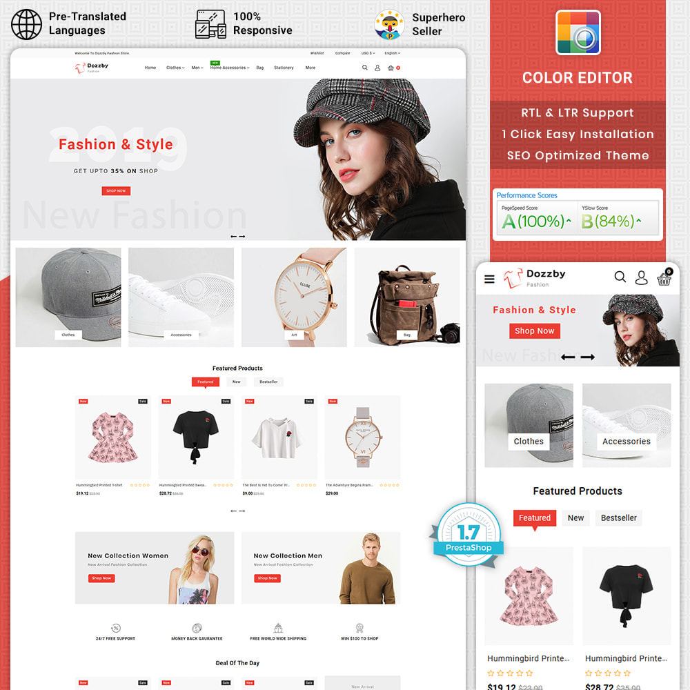 theme - Fashion & Shoes - Dozzby - Fashion & Clothing Store - 1