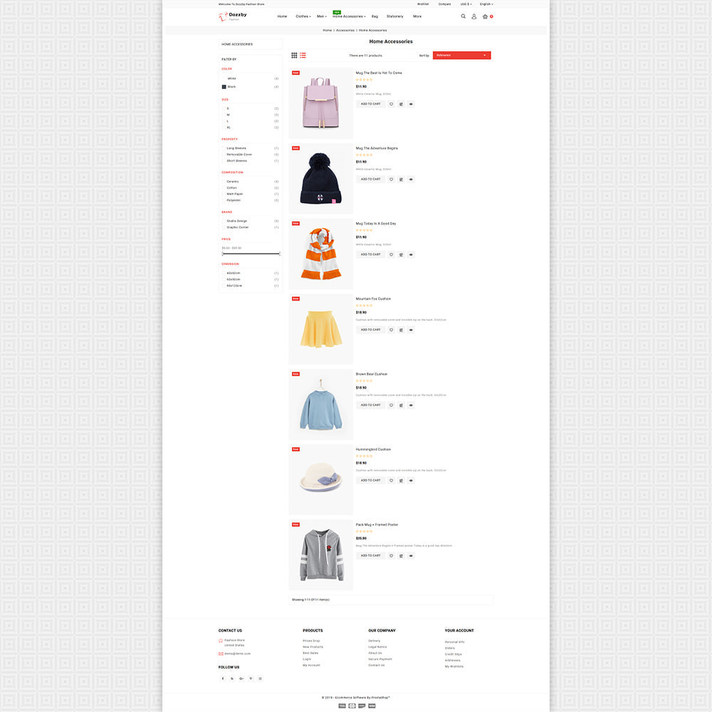 theme - Fashion & Shoes - Dozzby - Fashion & Clothing Store - 6