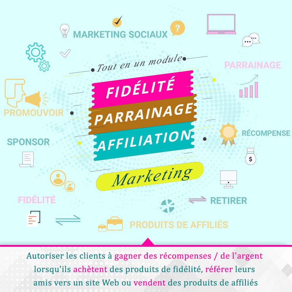 module - Fidélisation & Parrainage - Programmes fidélité, de parrainage et d'associés - 1