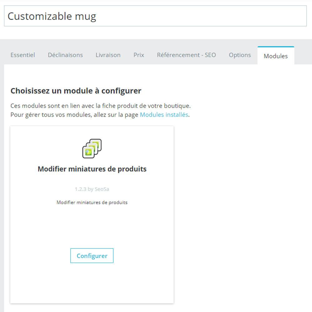 module - Visuels des produits - Editor - remplacement des miniatures - 2