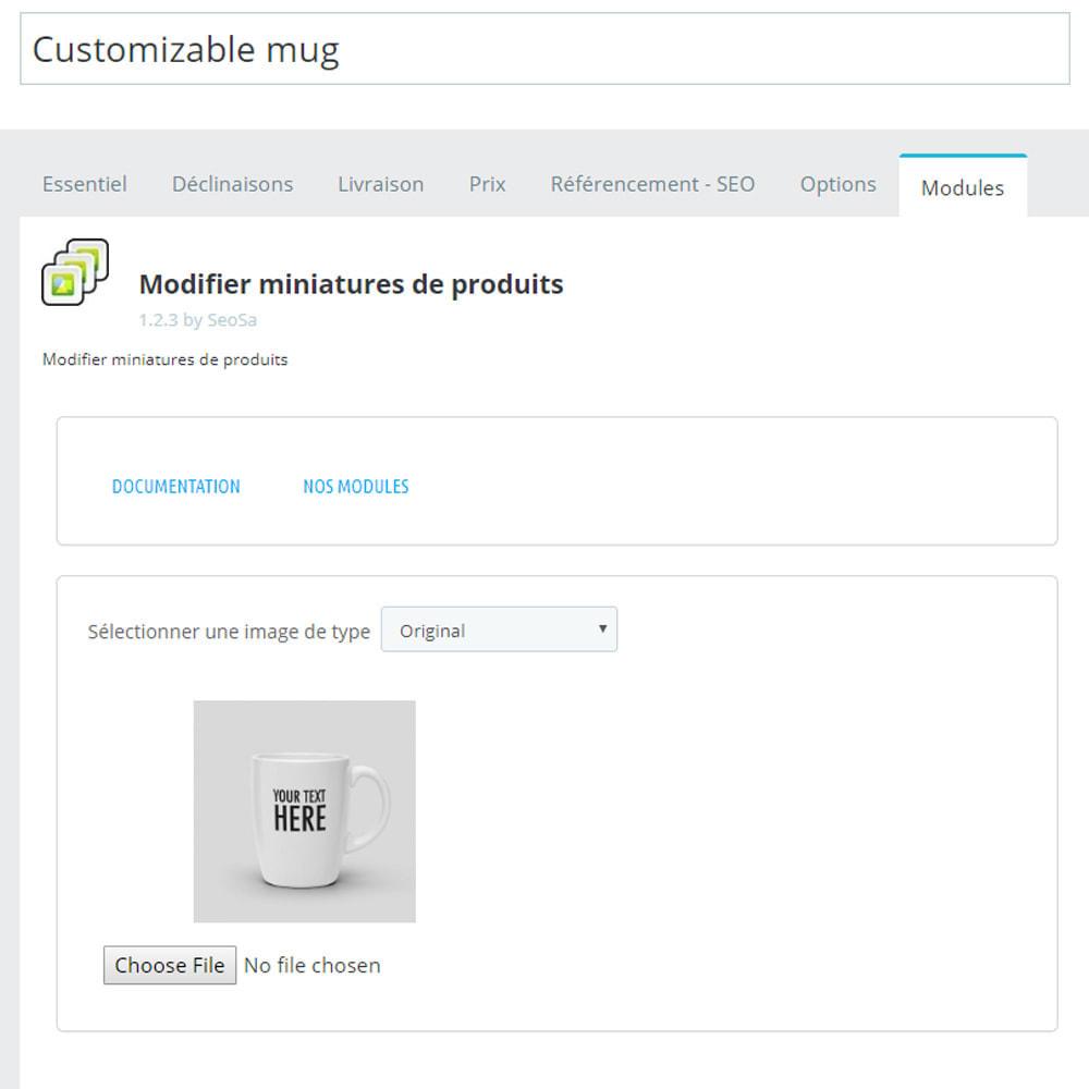 module - Visuels des produits - Editor - remplacement des miniatures - 3
