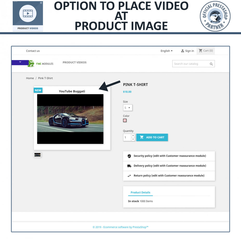 module - Videos & Music - Product Videos - Upload or Embed YouTube, Vimeo - 3