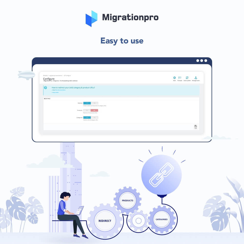 module - Data migration & Backup - MigrationPro: Magento to PrestaShop SEO Redirect - 3
