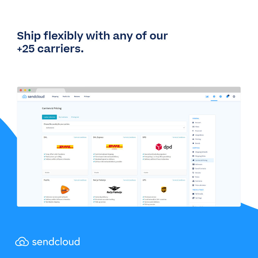 module - Shipping Carriers - SendCloud | Europe's Number 1 Shipping Tool - 3