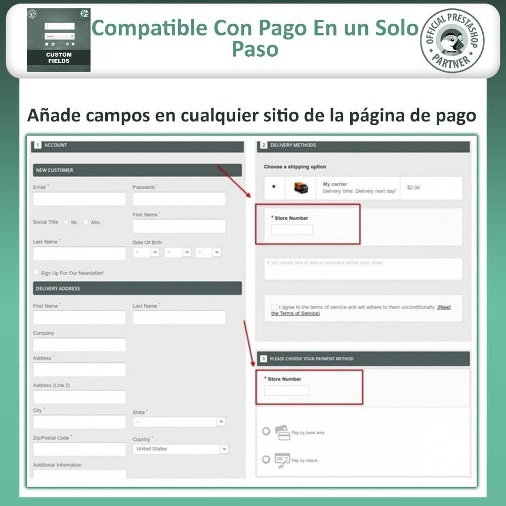 module - Inscripción y Proceso del pedido - Custom Checkout Fields - Campo de Pedido Personalizado - 3