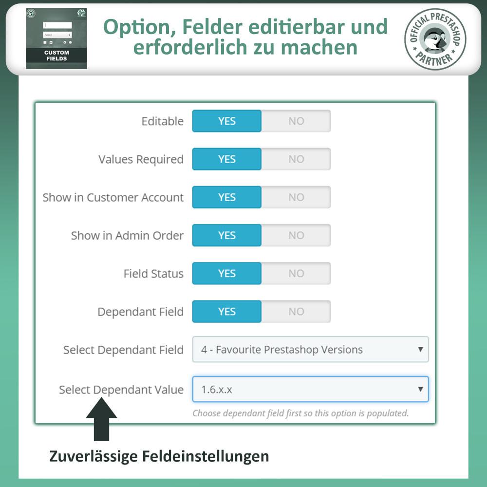 module - Anmeldung und Bestellvorgang - Benutzerdefinierte Felder, Fügen Sie Feld zur Checkout - 12