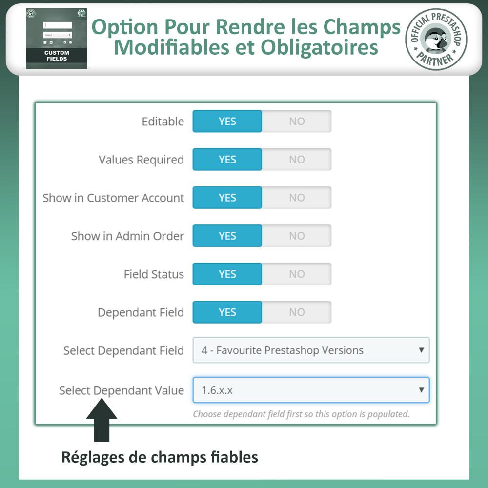 module - Inscription & Processus de commande - Champs paiement personnalisés, Ajouter des champs - 12