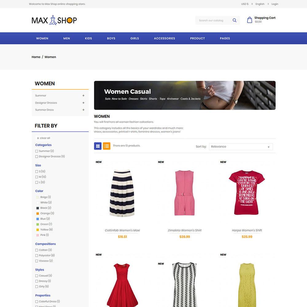 theme - Fashion & Shoes - Max Shop  - Fashion Dress Women Store - 3