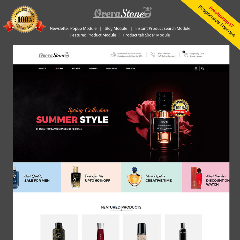 theme - Fashion & Shoes - Perfume Beauty - Fashion Accessories Store - 1