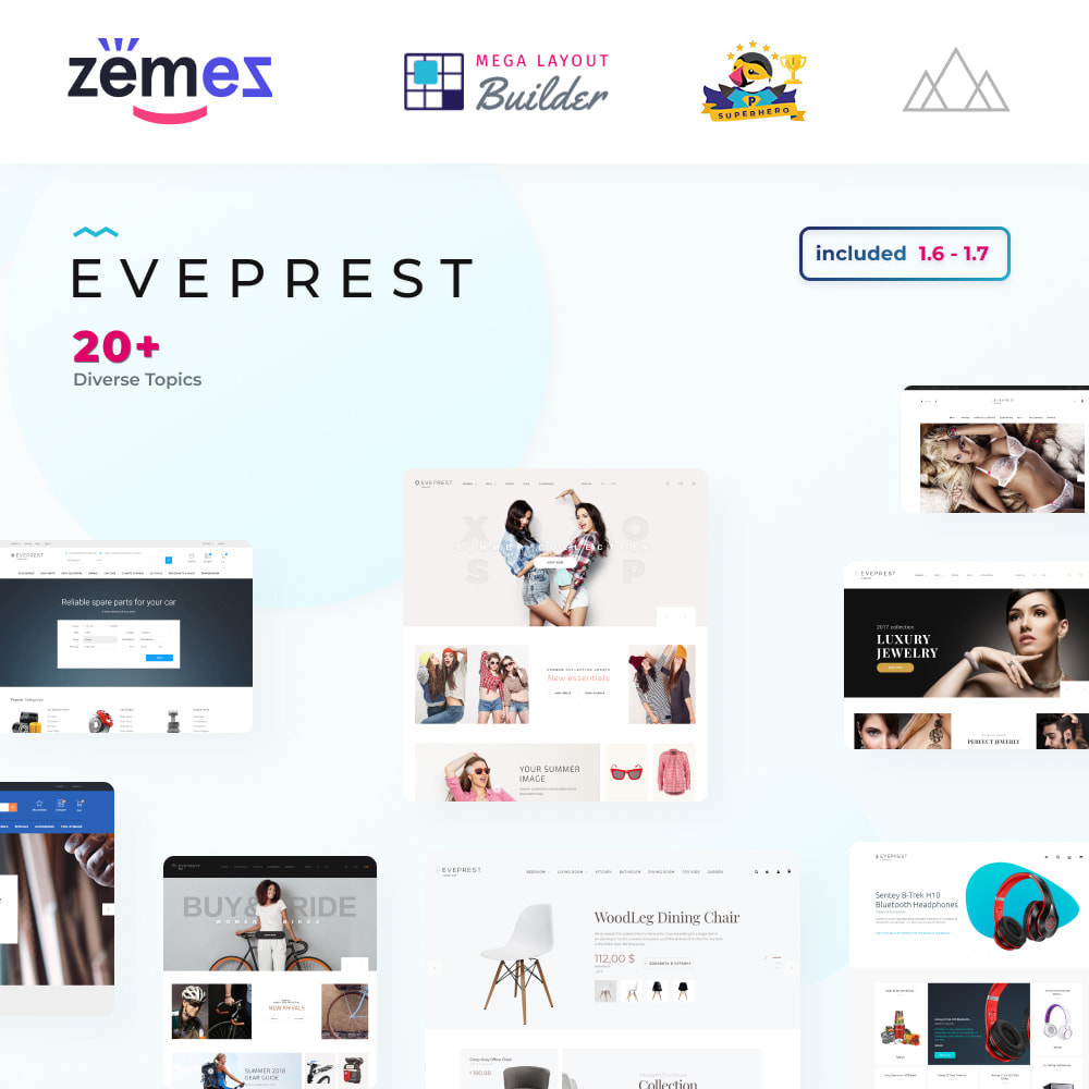theme - Mode & Chaussures - Eveprest - Multipurpose Shop - 1