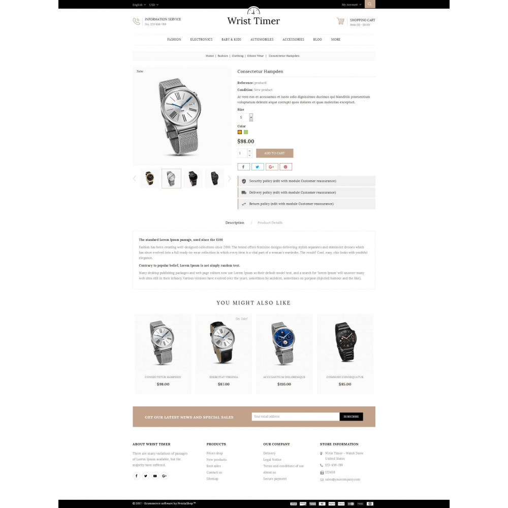 theme - Joalheria & Acessórios - Wrist Timer - Watch Store - 5