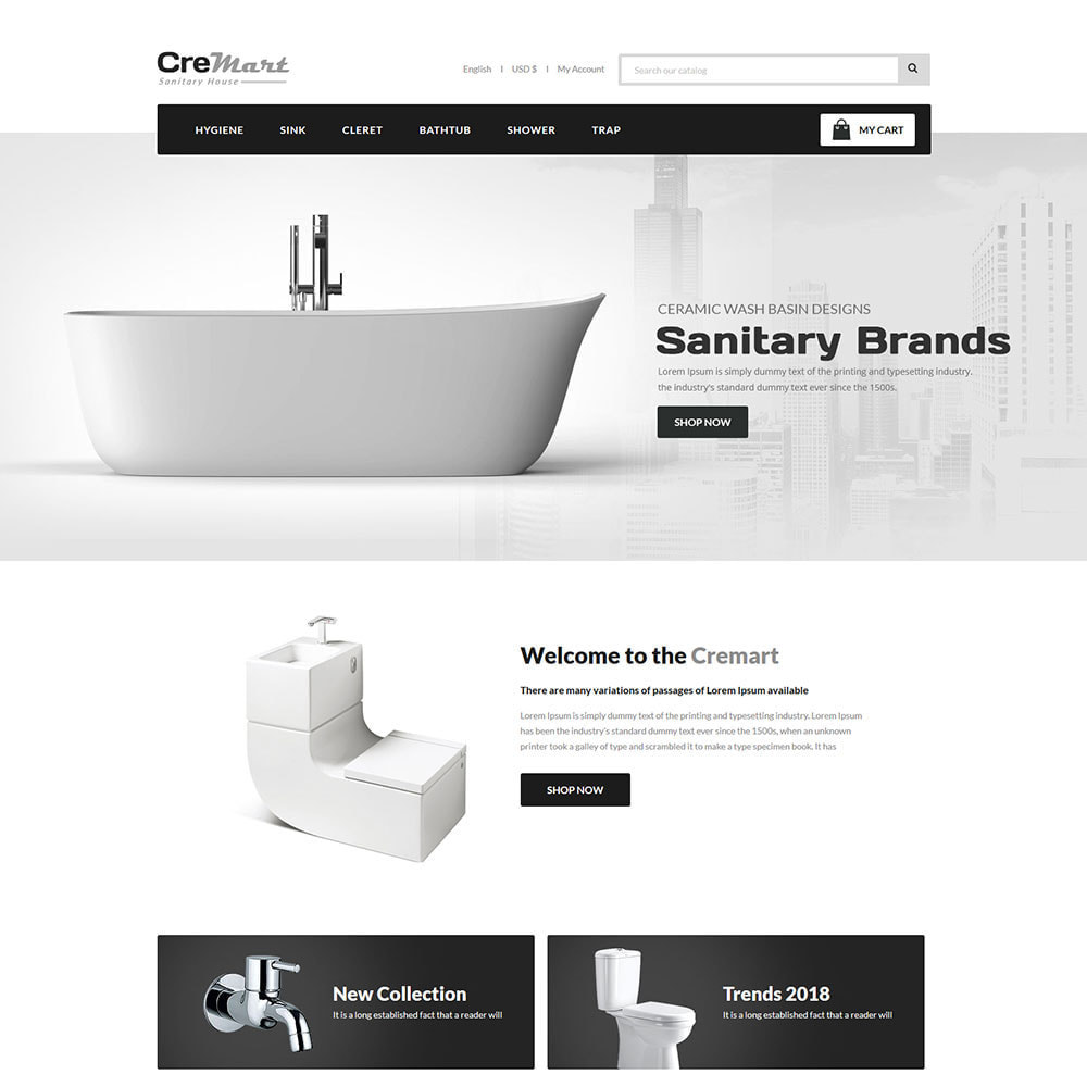 theme - Home & Garden - Cremart Sanitary - Sink Washbasin Store - 2