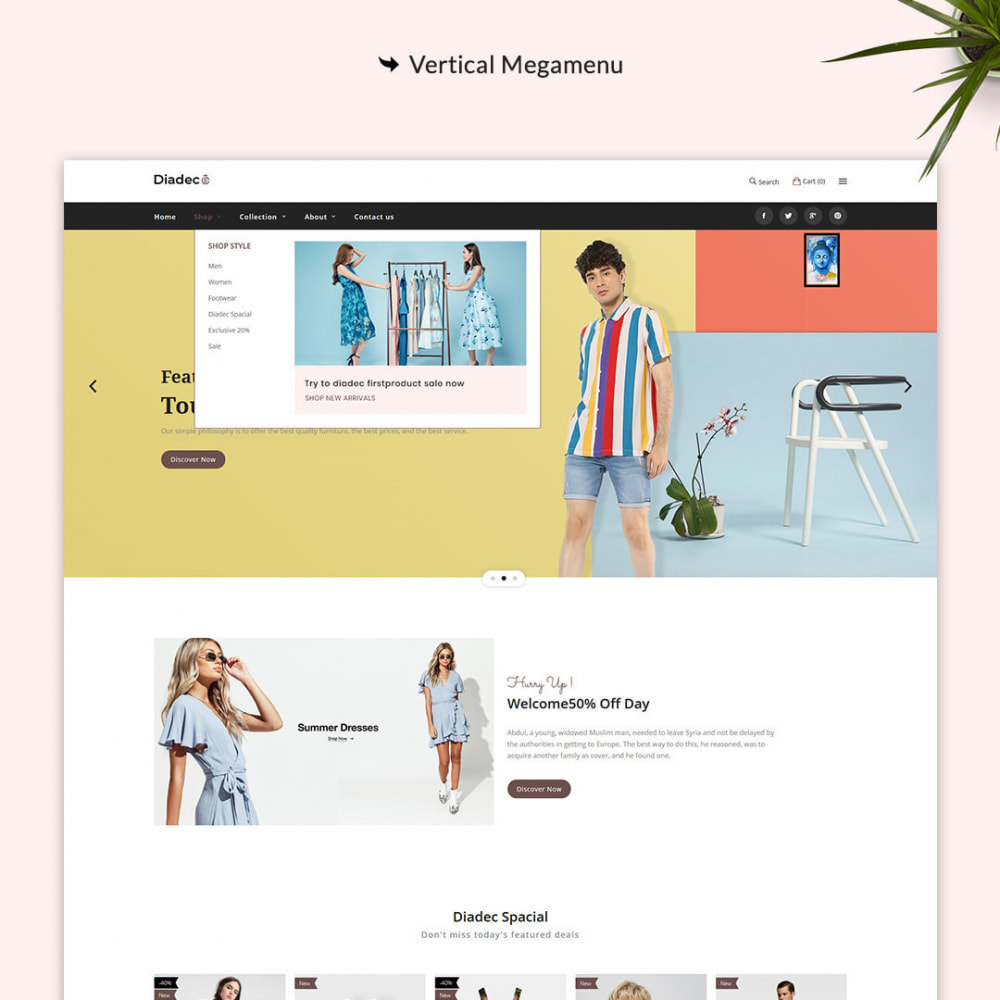 theme - Мода и обувь - Diadec- The Fashion eCommerce Store - 2