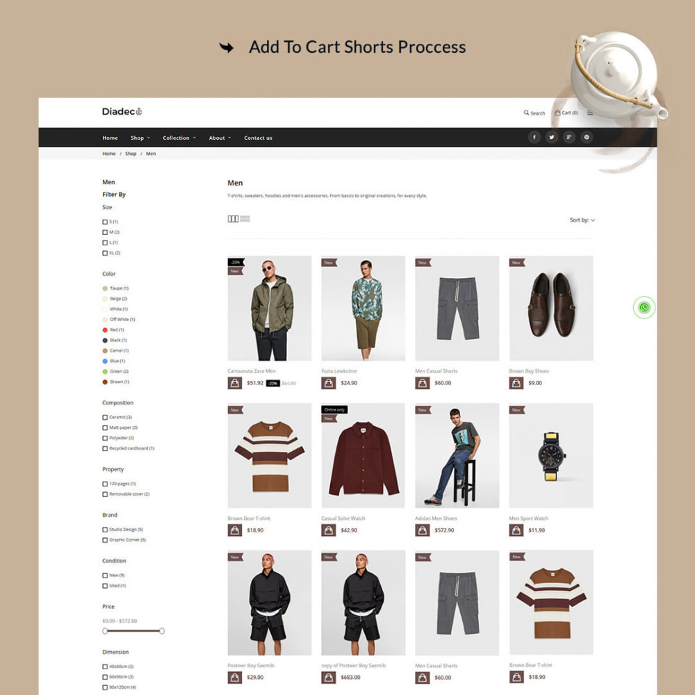 theme - Мода и обувь - Diadec- The Fashion eCommerce Store - 4
