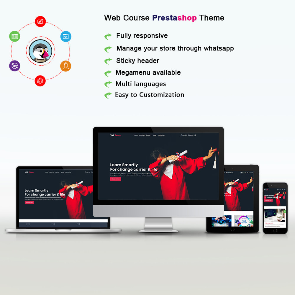 theme - Eletrônicos & High Tech - Web Course & Online Course Stores - 1