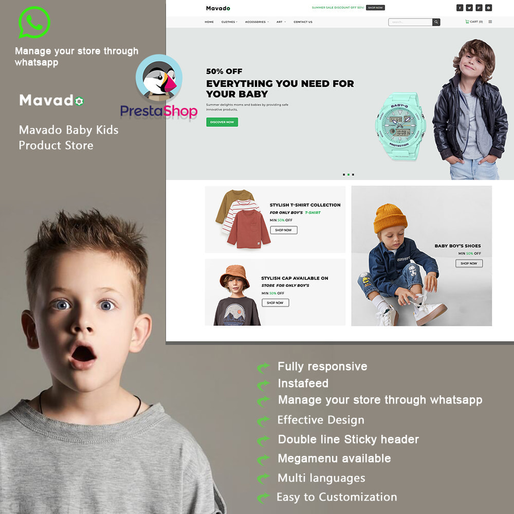 theme - Kids & Toys - Mavado Baby Fashion Stores - 1