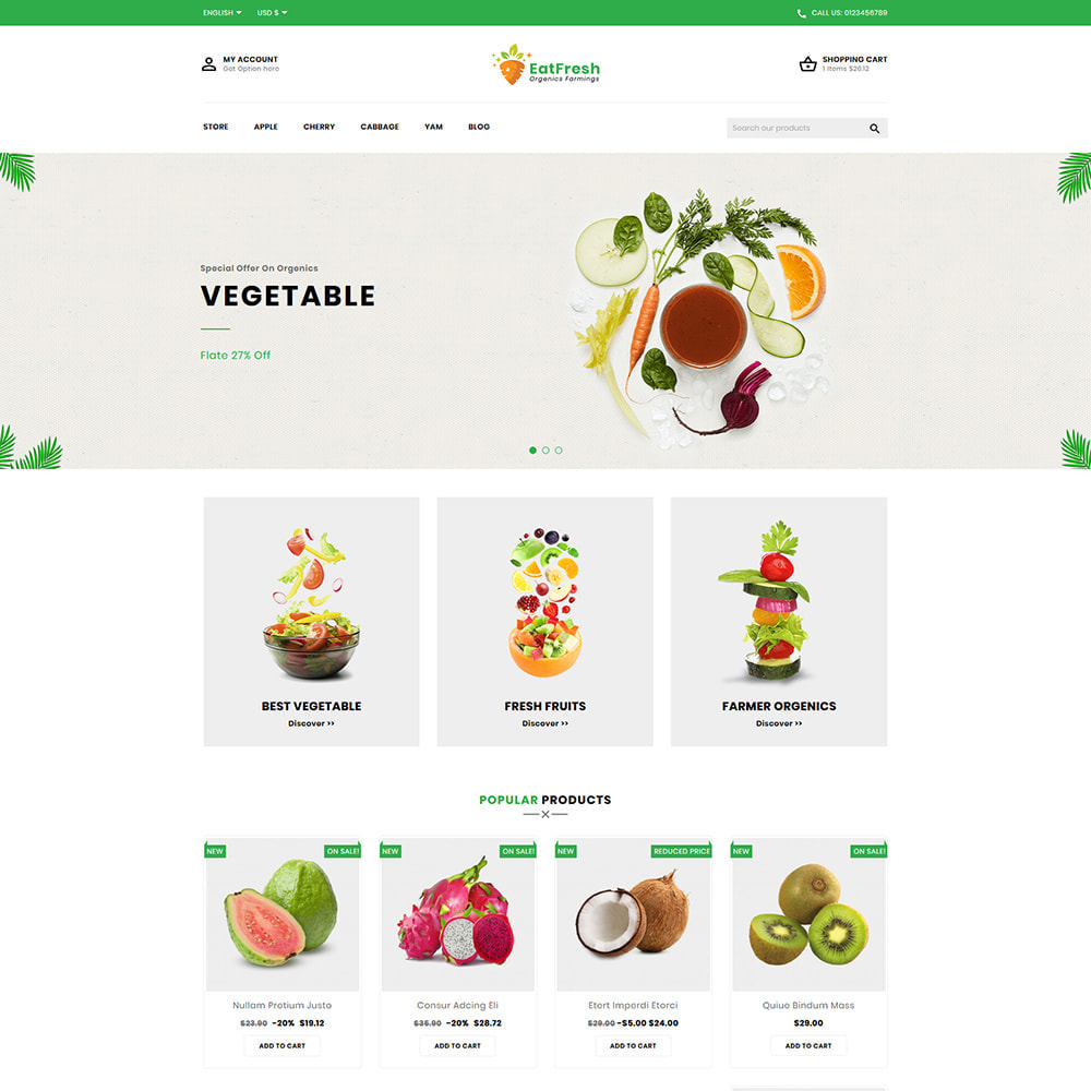 theme - Мода и обувь - EatFresh Vegetables & Fruits Shop - 2