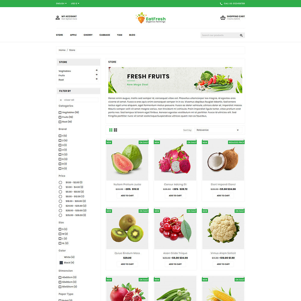 theme - Мода и обувь - EatFresh Vegetables & Fruits Shop - 3