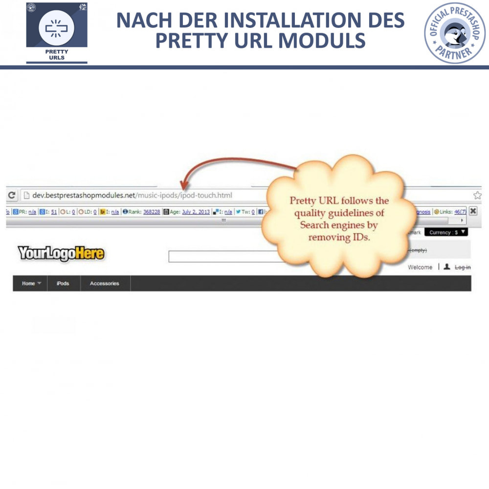 module - URL & Redirects - Pretty URLs – Entfernen Sie ID Nummern von der URL - 12