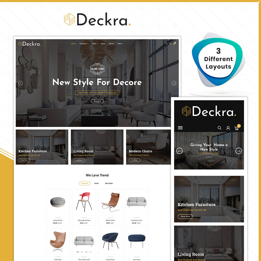 theme - Home & Garden - Digital Furniture– Deckra Home Store - 1