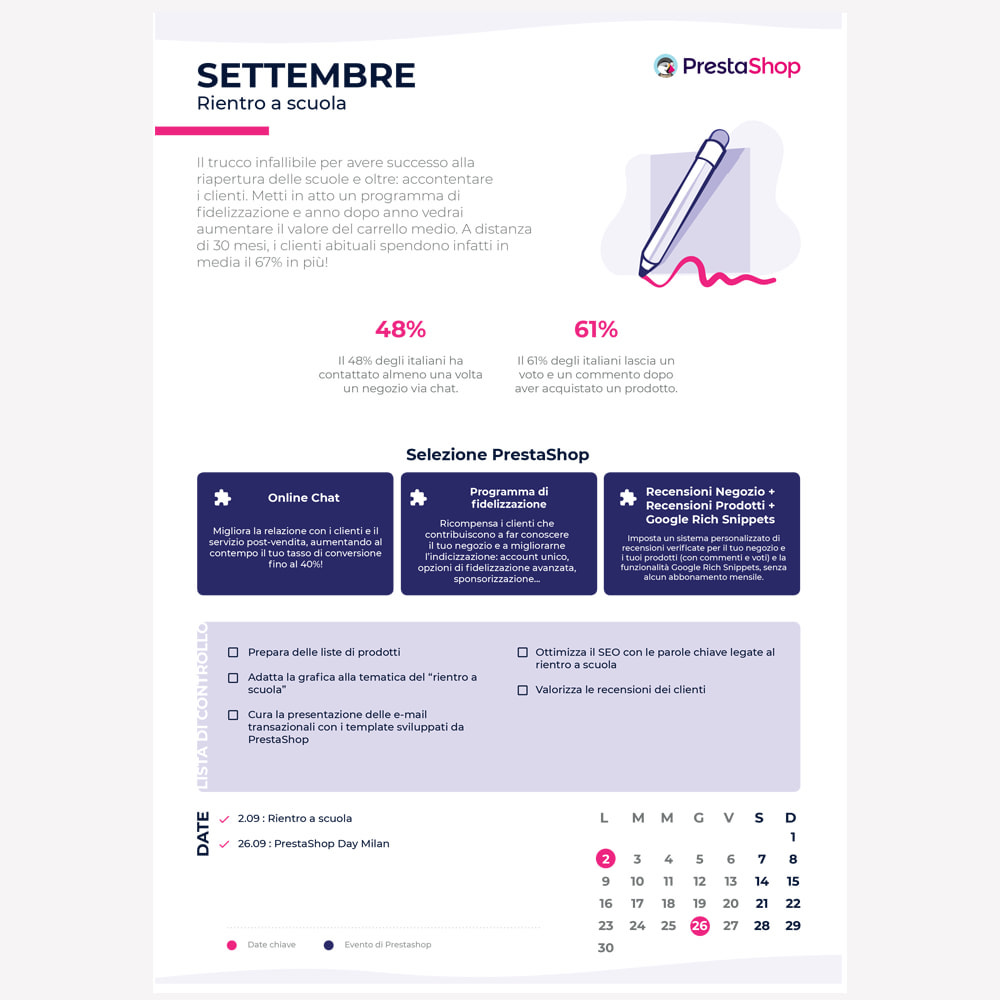 other - Calendario eCommerce - Calendario e-commerce 2019 di fine anno - 2
