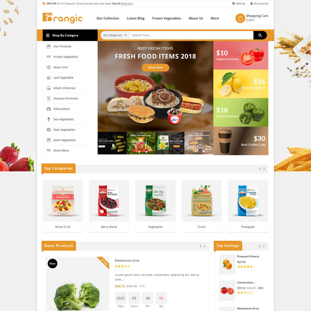 theme - Продовольствие и рестораны - Orangic - The Food Store - 4