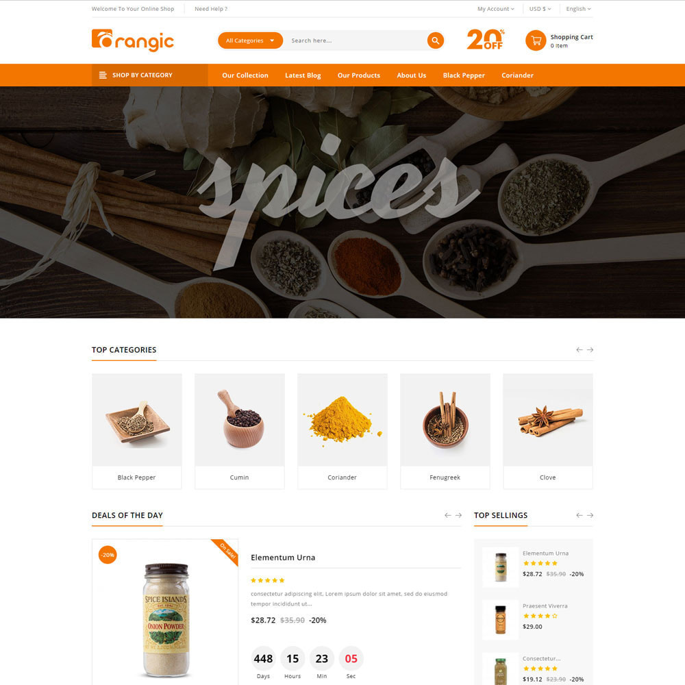 theme - Продовольствие и рестораны - Orangic - The Food Store - 5