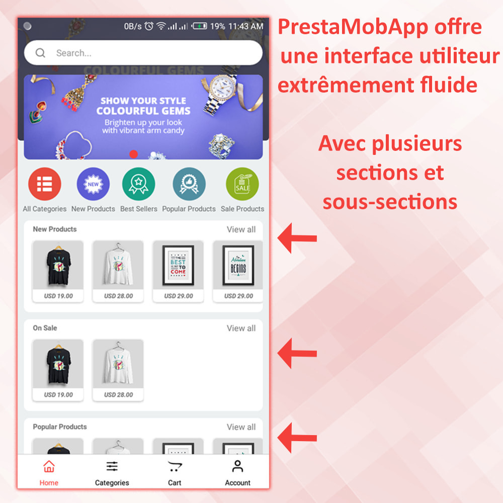 module - Mobile - PrestaMobApp - Créateur d'applications natif module - 3