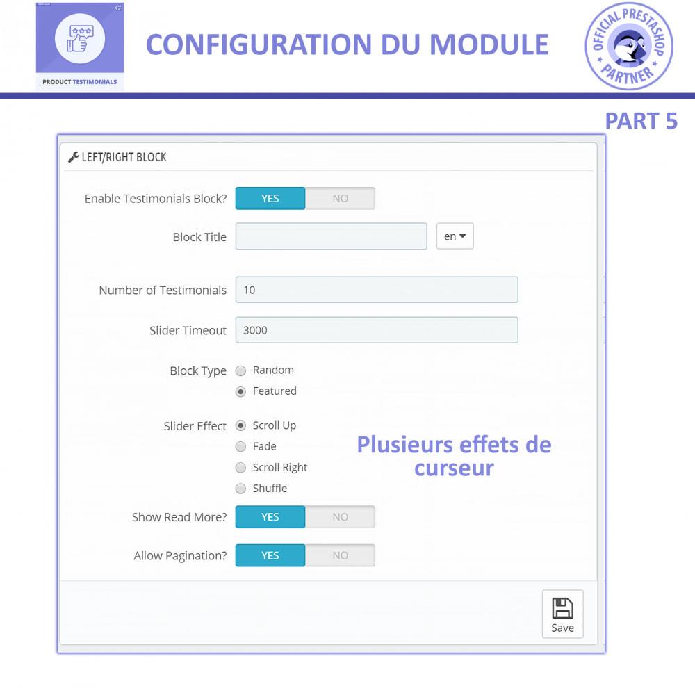 module - Avis clients - Revues de Produits + Témoignages de Magasins - 12