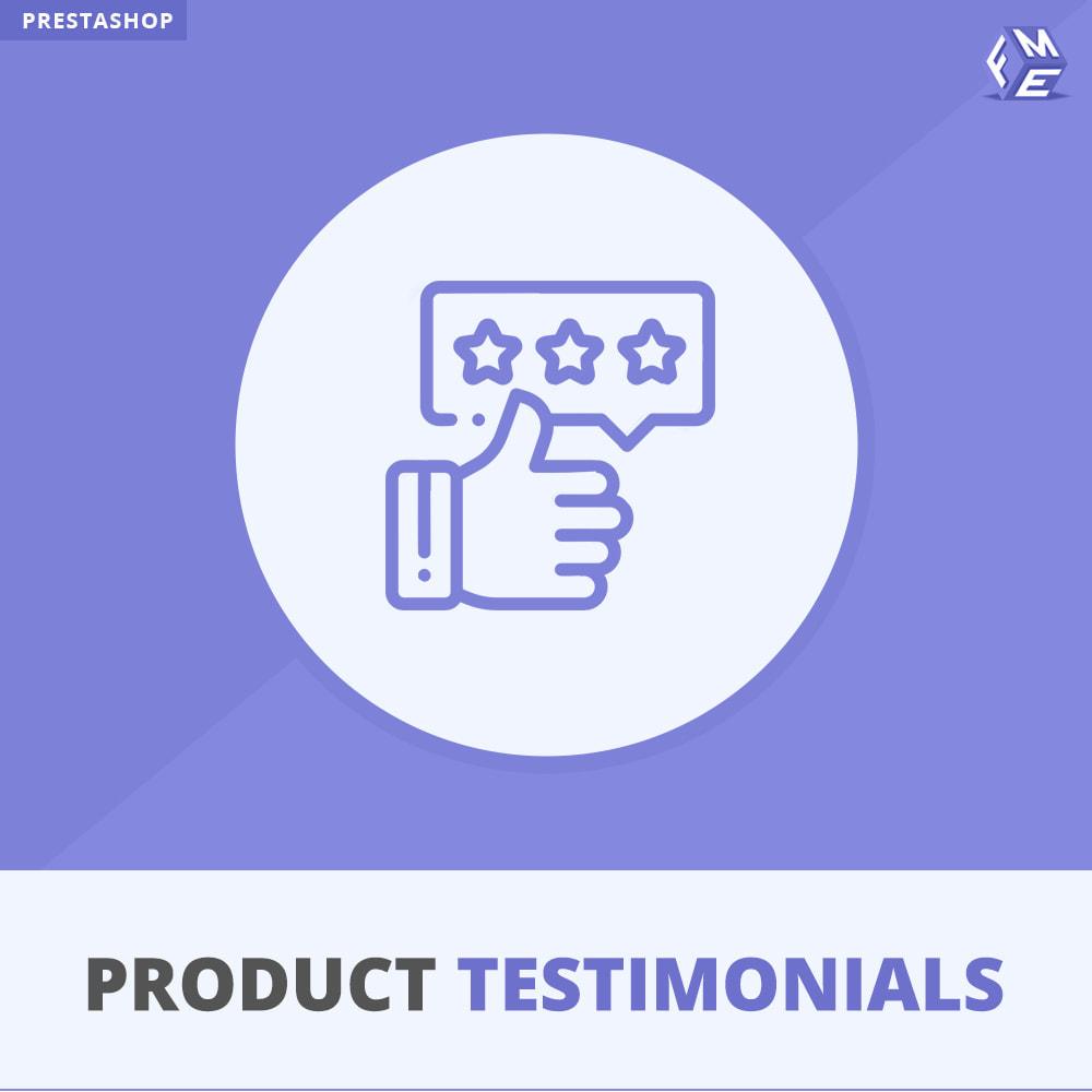 module - Comentarios de clientes - Opiniones Productos + Reseñas de la tienda - 1