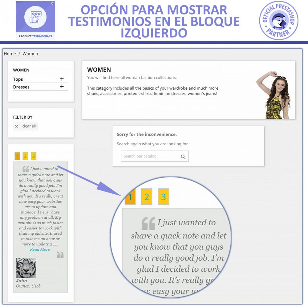 module - Comentarios de clientes - Opiniones Productos + Reseñas de la tienda - 3