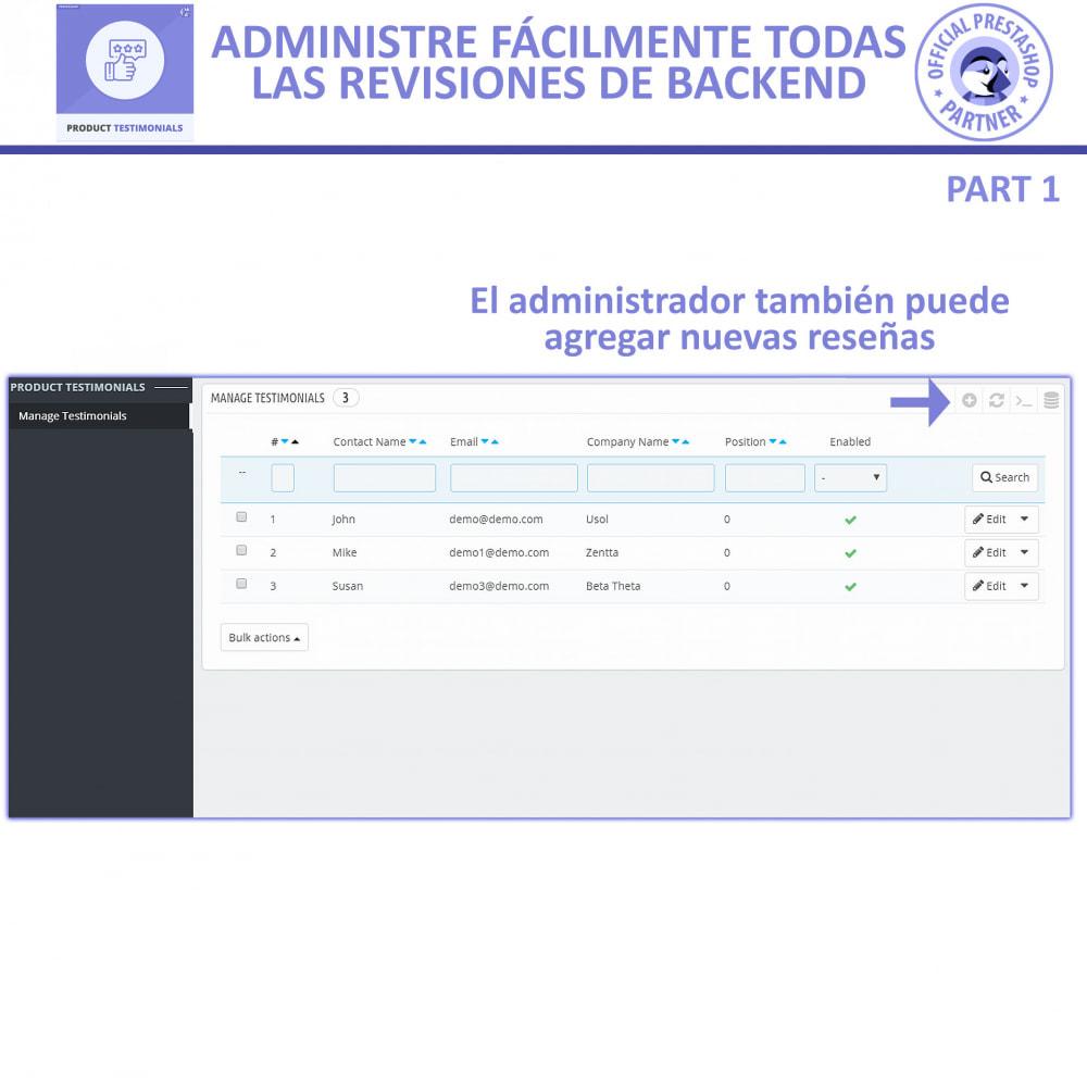 module - Comentarios de clientes - Opiniones Productos + Reseñas de la tienda - 5