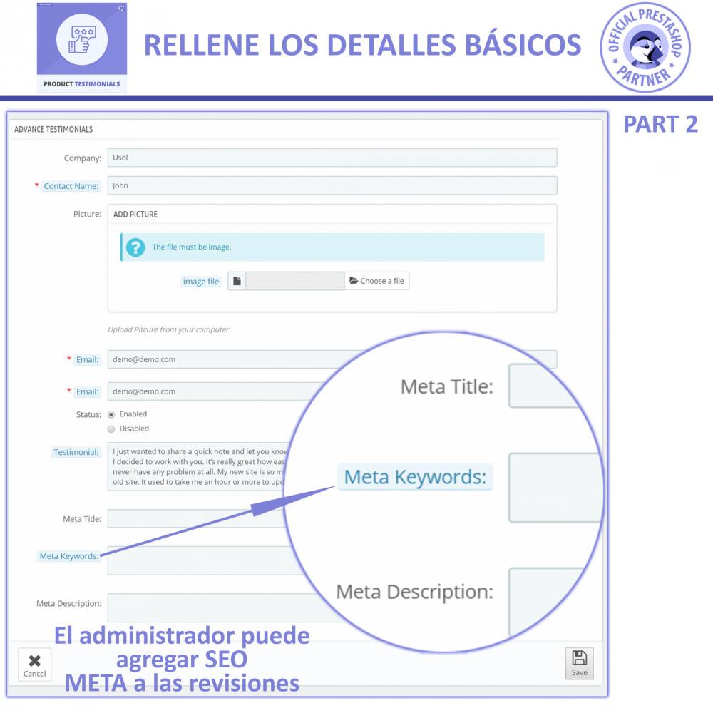 module - Comentarios de clientes - Opiniones Productos + Reseñas de la tienda - 6