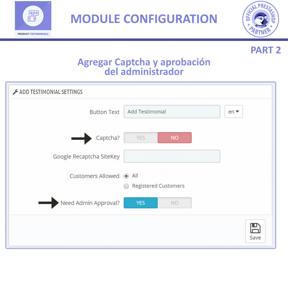 module - Comentarios de clientes - Opiniones Productos + Reseñas de la tienda - 9
