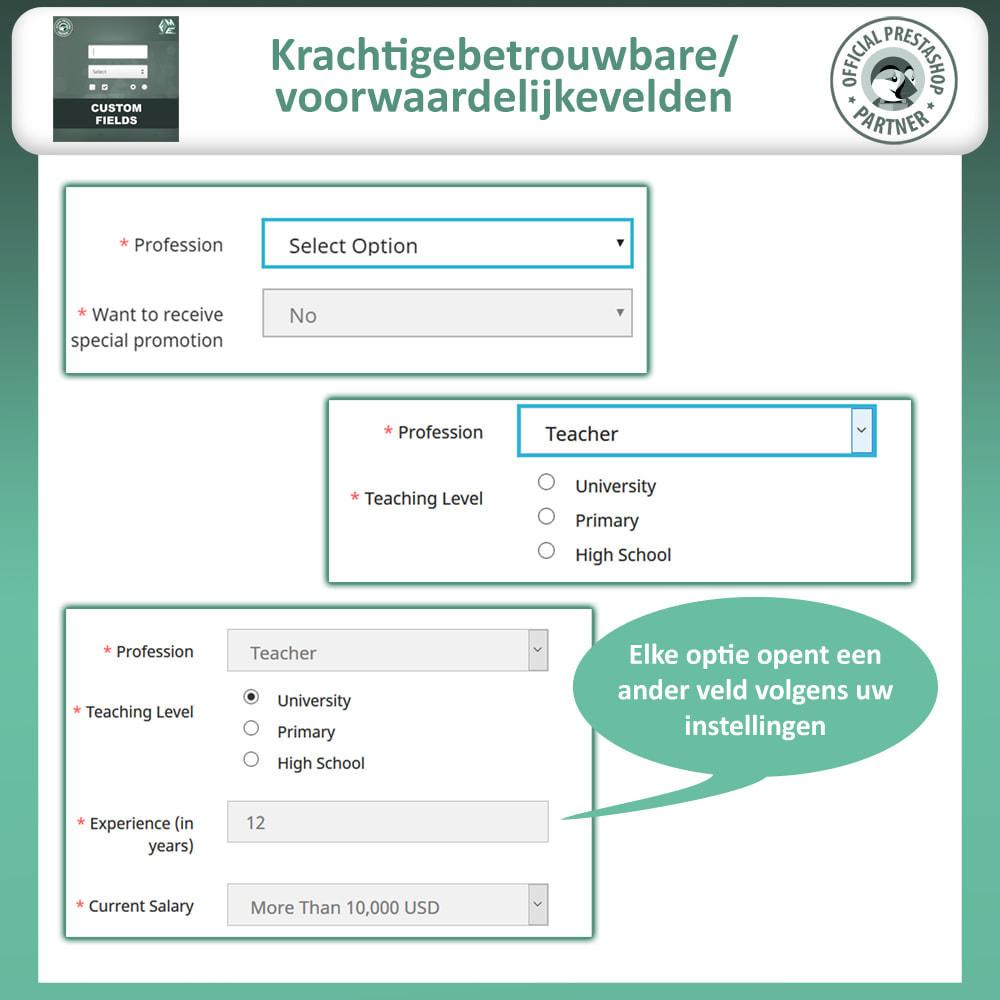 module - Registratie en Proces van bestellingen - Aangepaste Velden: Voeg extra veld toe aan uitchecken - 8