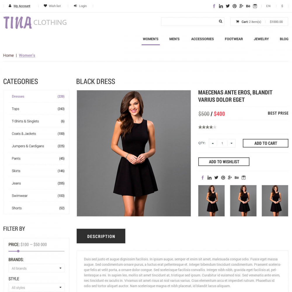 theme - Mode & Schuhe - Ali Clothing Store - 3