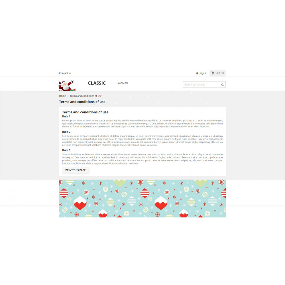 module - Personnalisation de Page - Joyeux Noel - 1