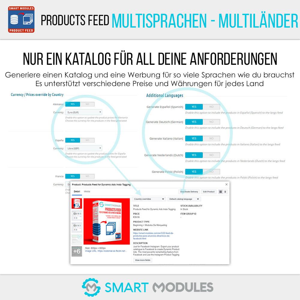 module - SEA SEM (Bezahlte Werbung) & Affiliate Plattformen - Produkte Feed für dynamische Werbungen & Tag & Shop - 3