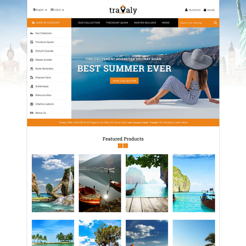 theme - Sports, Activities & Travel - Travaly  -The Tourism Store - 3