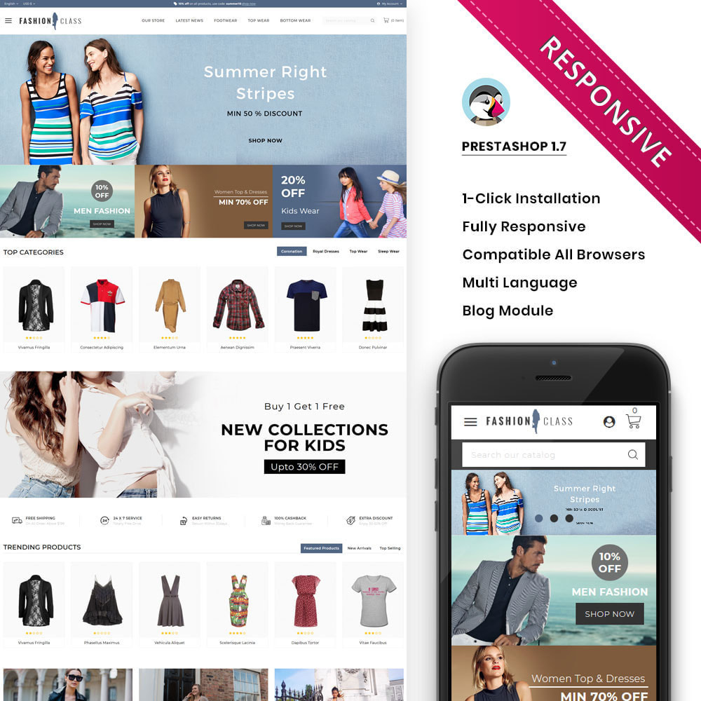 theme - Fashion & Shoes - Fashionclass - The fashion store - 1